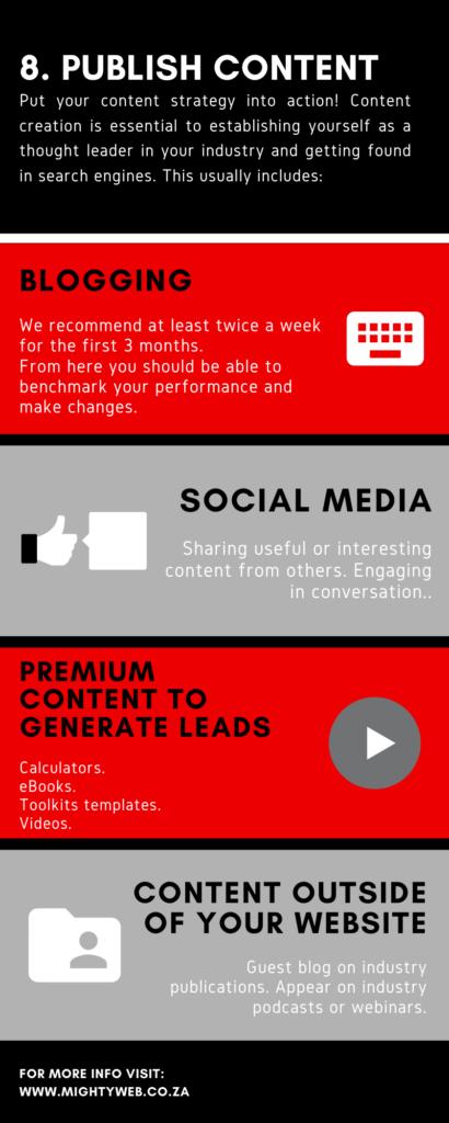 Step 8 publish content