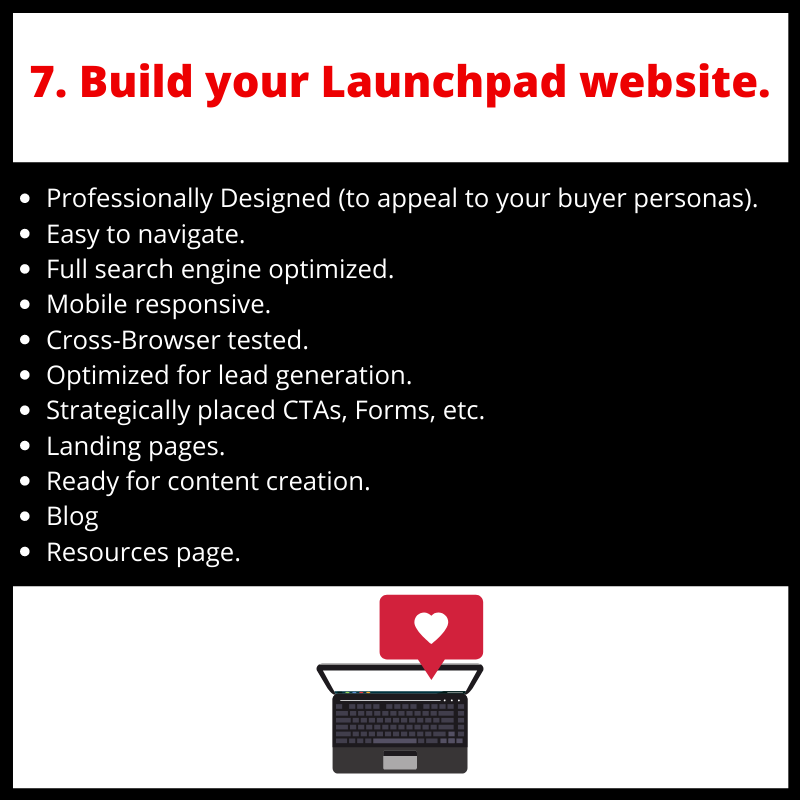 step7 build your launchpad website.