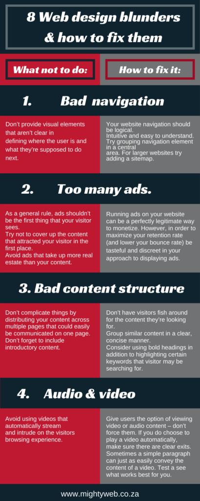 8 Website Design Mistakes